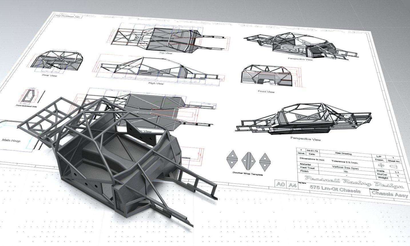 PEASNELL RACING DESIGN 575 GTC HILLCLIMB CAR DETAIL (2)