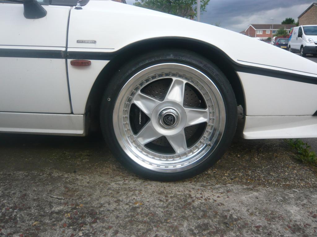 I spy...Porsche brakes! Please note soon to be eradicated wheel gap.